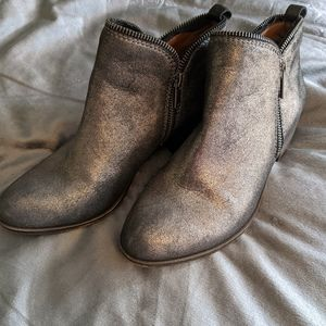 Lucky brand metallic booties